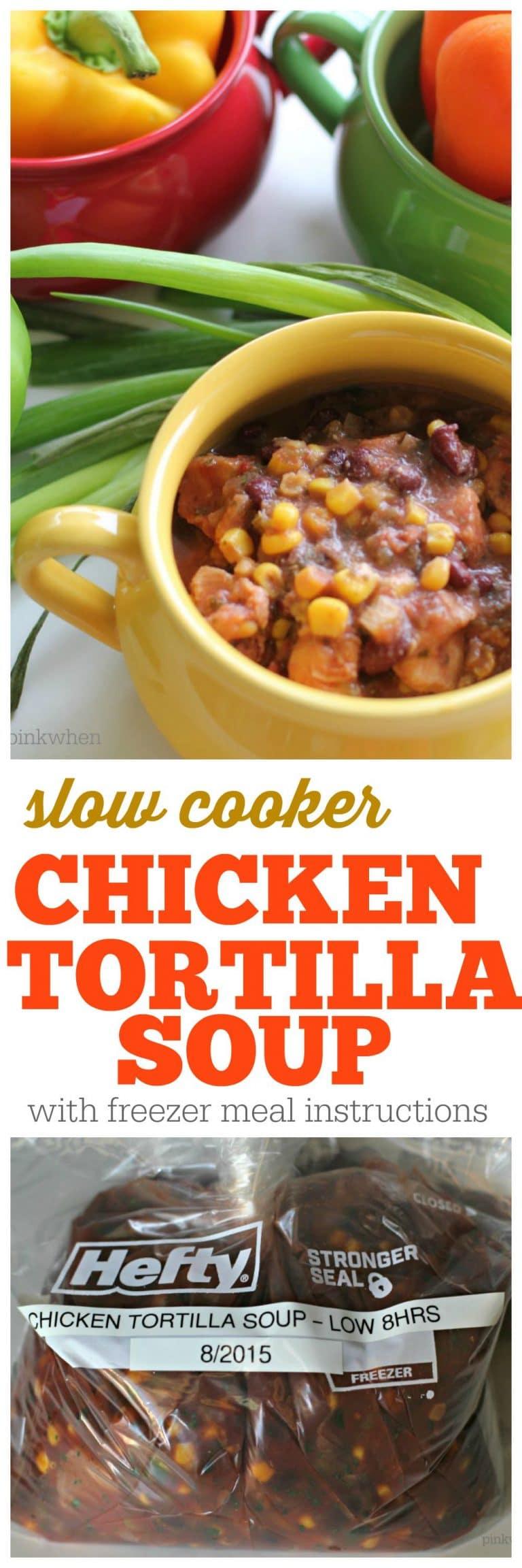 Slow Cooker Chicken Tortilla Soup Recipe   PinkWhen