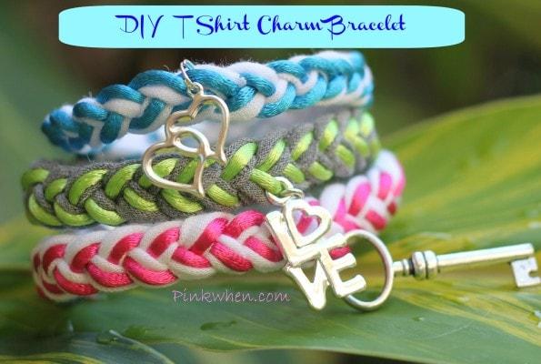 DIY T Shirt Charm Bracelet Tutorial