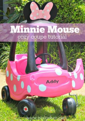 Minnie Mouse Cozy Coupe Tutorial