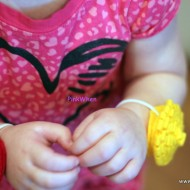 Toddler Fabric Flower Bracelets