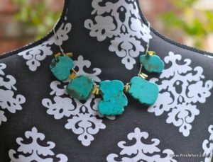DIY Turquoise Necklace on model