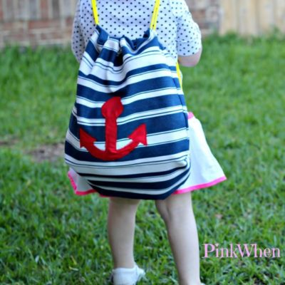 Easy Drawstring Backpack Tutorial