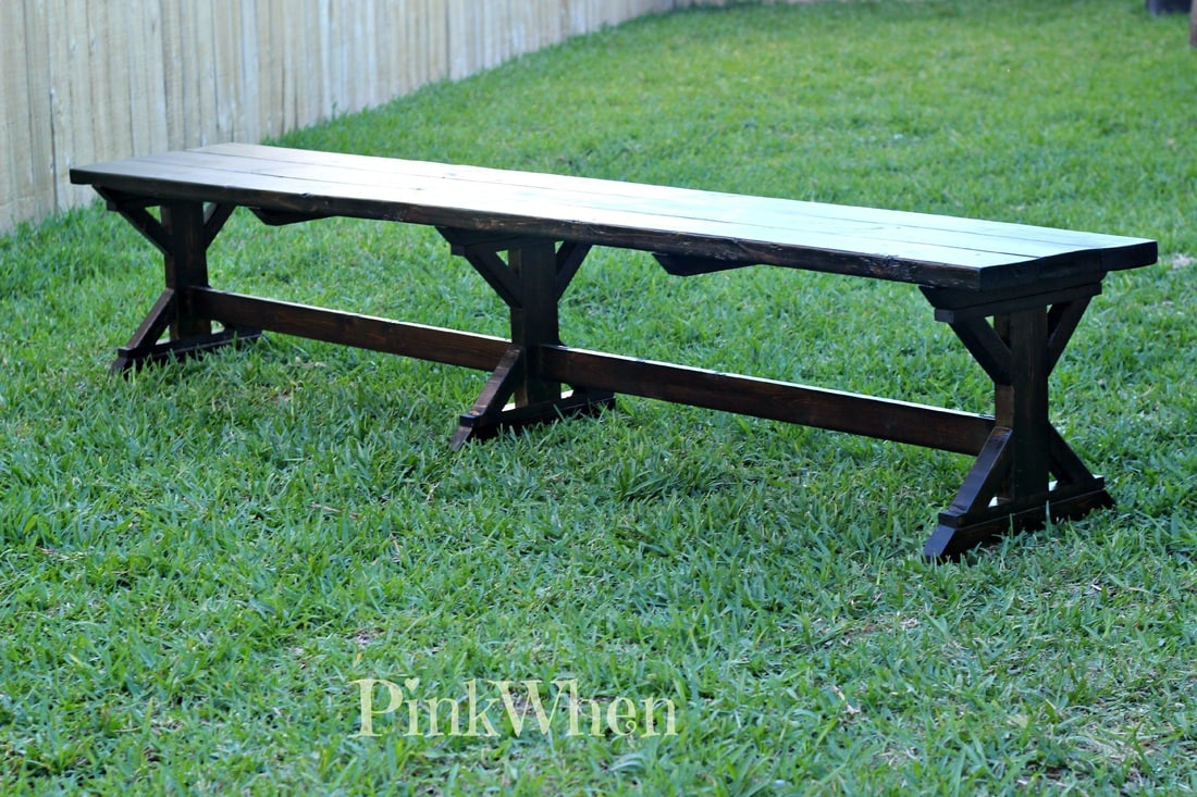 diy 20 outdoor patio bench pinkwhen