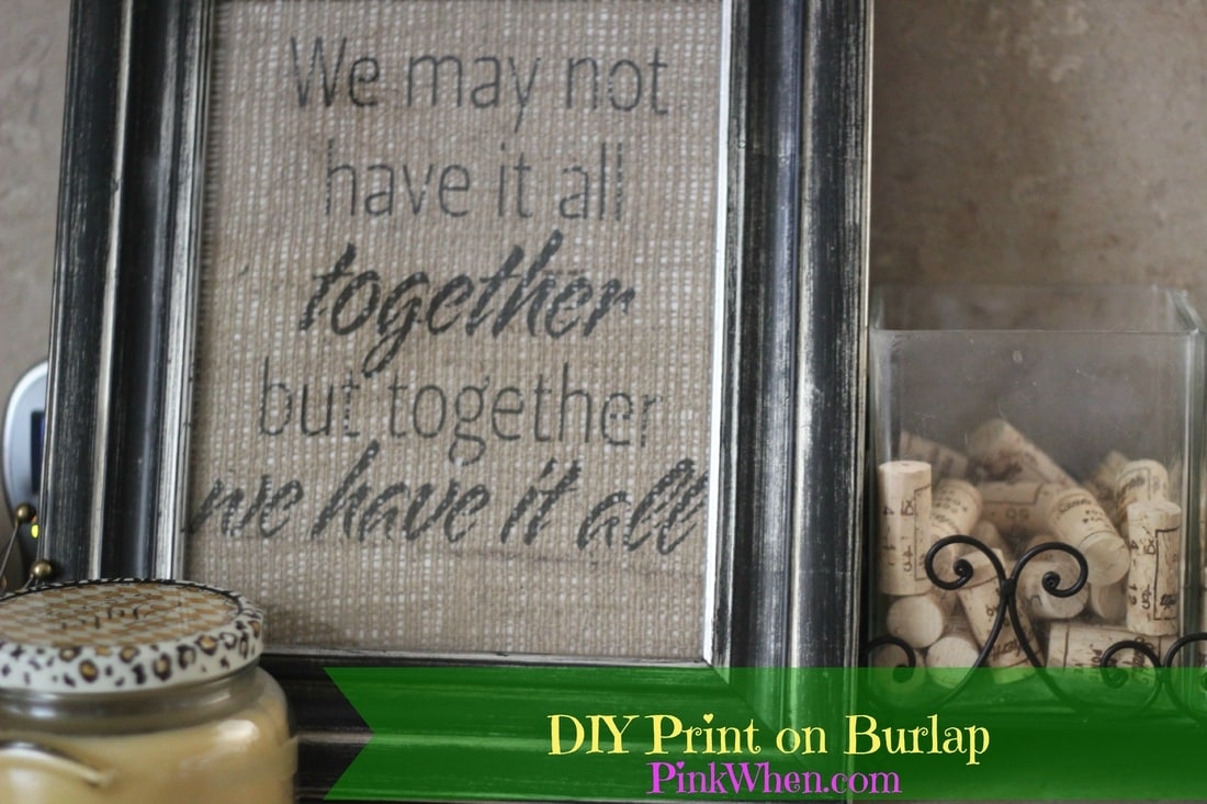 DIY Print on Burlap