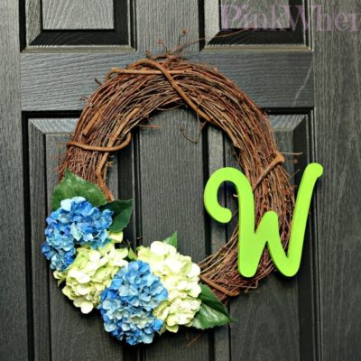 Pinterest Inspired Hydrangea Wreath