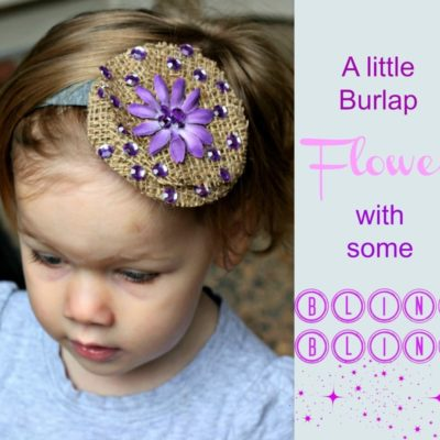 Easy Burlap Flower Hair Clip