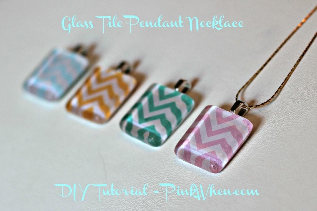 Glass Tile Jewelry Glass Tile Pendant Tutorial