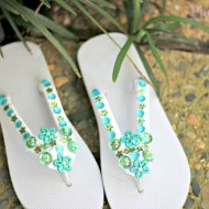 How to Make Flip Flops with Bling