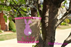 Burlap Covered Easter Pail