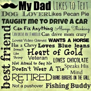 My Father's Day Inspirational List, Click here for the free Printable version.