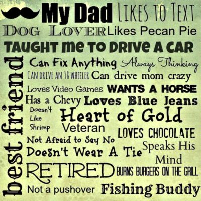 Father's Day List