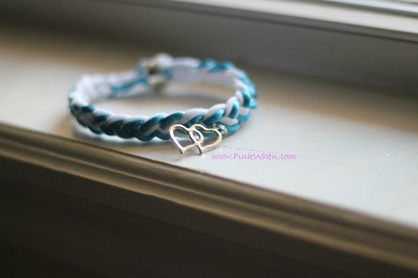 DIY T Shirt Charm Bracelets