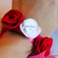 How to Make a Fabric Flower Bracelet