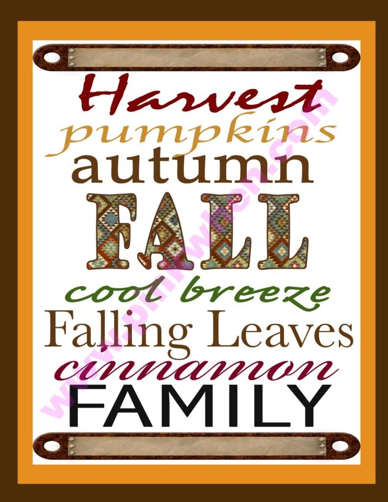 Perfect Fall Printable!