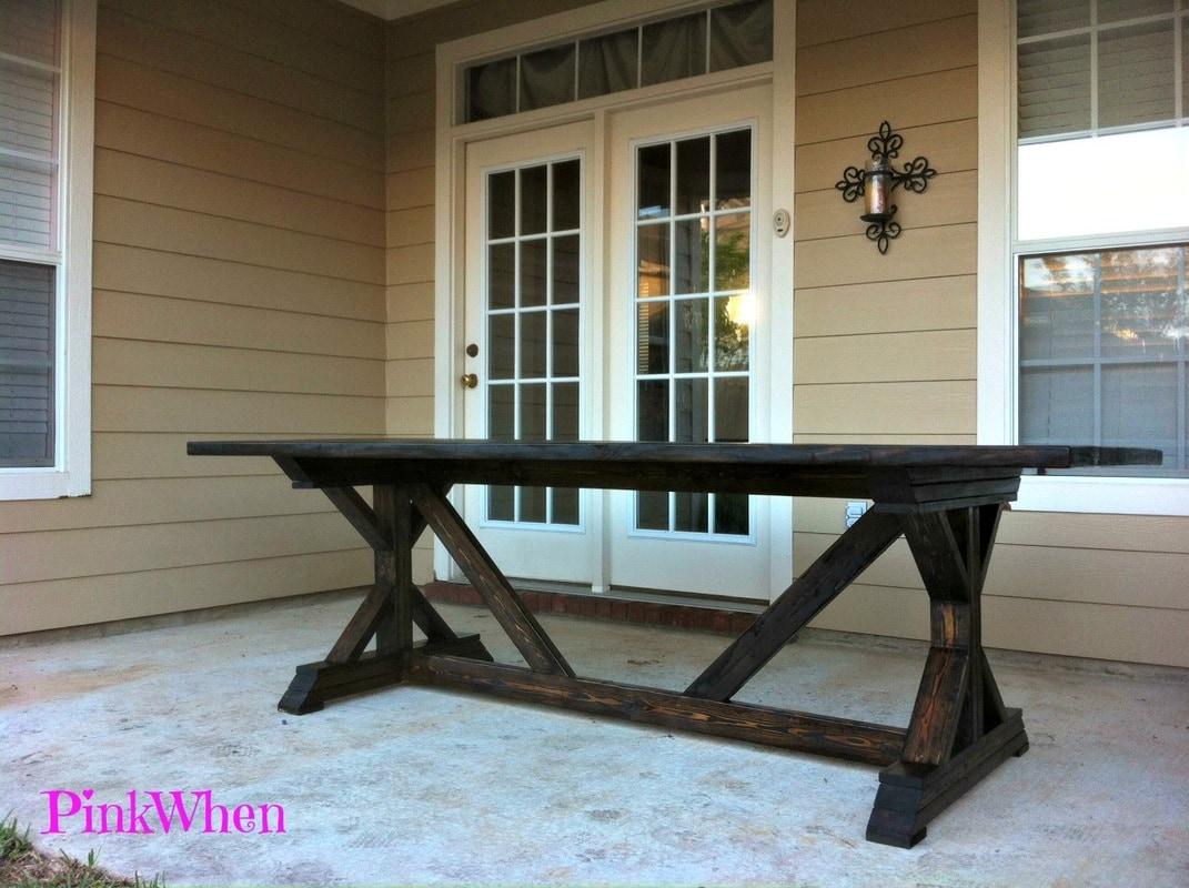 DIY $20 Outdoor Patio Bench - PinkWhen