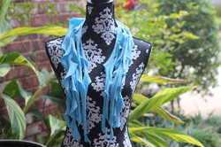 No Sew Frilly T Shirt Scarf