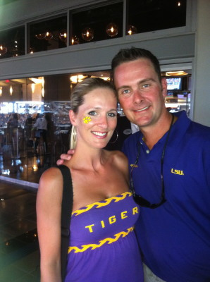 Me and the hubs...Geaux Tigers!