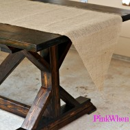 How to Make a No Sew Burlap Table Runner