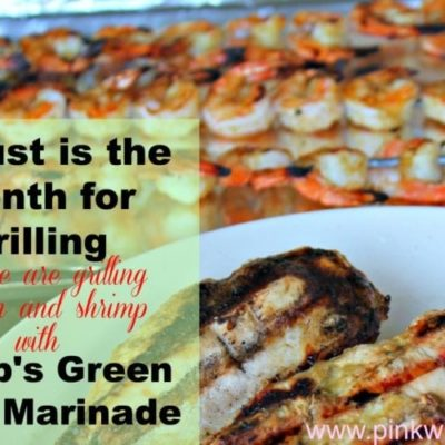 Grilled Chicken and Shrimp with Stubbs Green Chili Marinade