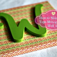 Washi Tape Monogrammed Wall Art