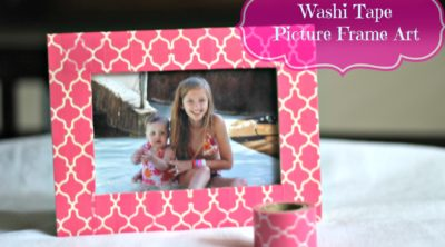 Washi Tape Picture Frame Art