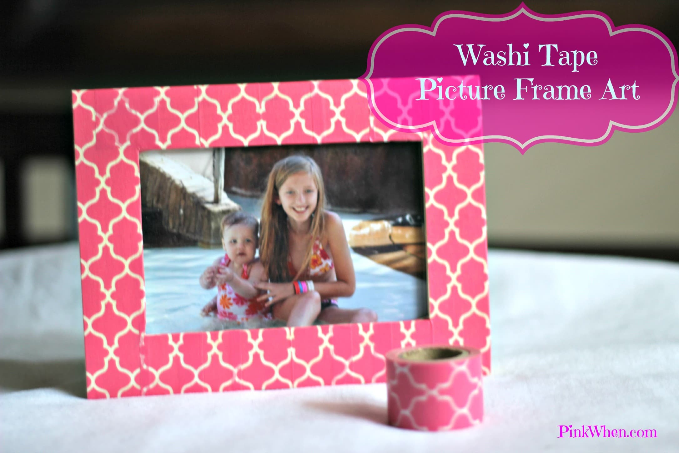 Washi Tape Picture Frame Pinkwhen