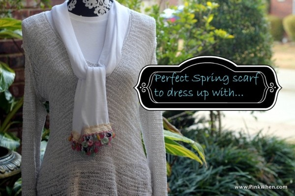 Simple Sew Scarf with Buttons