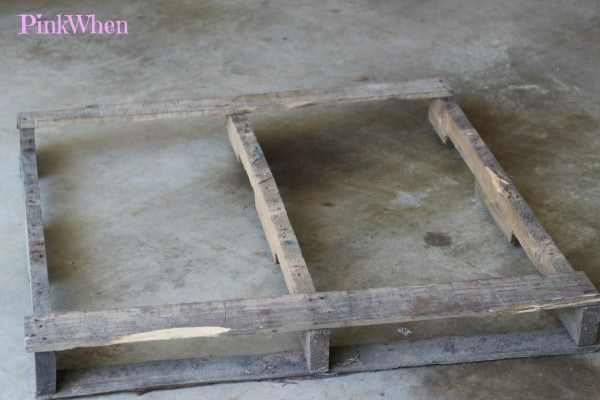 Pallet with bad boards removed