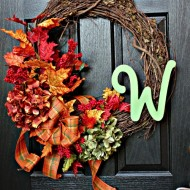 Autumn Leaves and Door Decor