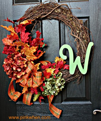 Autumn Leaves and a DIY Fall Wreath via PinkWhen.com