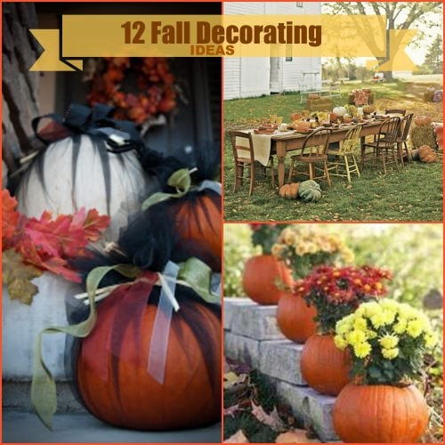 Decorating for the fall season pinkwhen for Pictures of fall decorations for outdoors