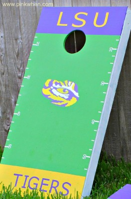 DIY Create Your Own Corn Hole Tailgating Game Using Scotch Colors and Patterns Duct Tape #scotchducttape