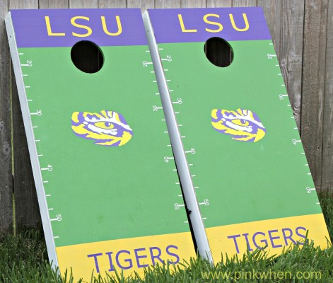 DIY Create Your Own Corn Hole Tailgating Game with Scotch Colors and Patterns Duct Tape #scotchducttape