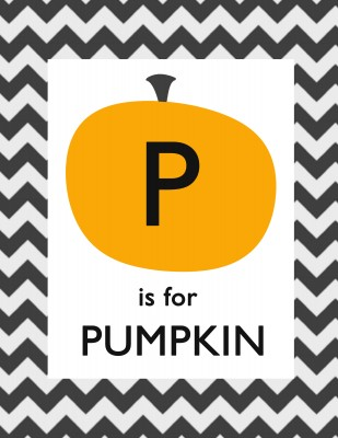 Free Alphabet Printables - P is for Pumpkin! PinkWhen.com