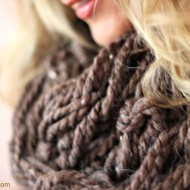 DIY Arm Knitting Infinity Scarf