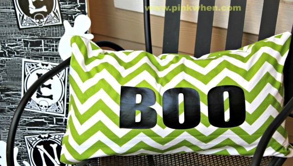 Sew SImple Boo Pillow Tutorial | PinkWhen.com {crafts, recipes, easy to follow tutorials)