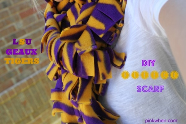DIY Fleece Scarf Tutorial with minimal sewing!