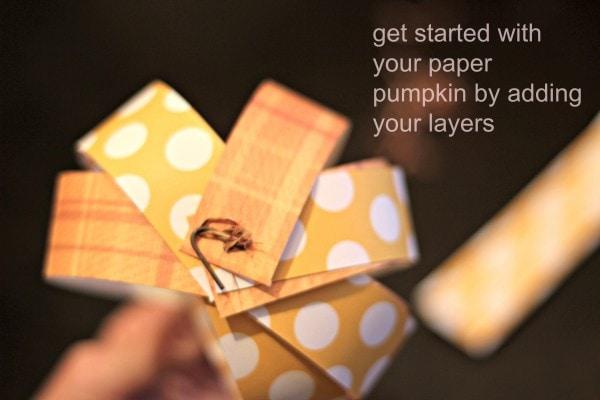 DIY Paper Pumpkin Start