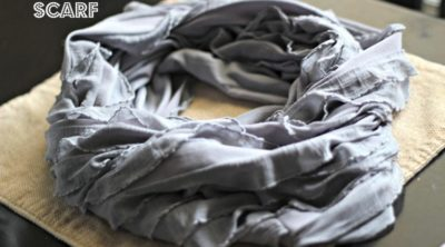 DIY Ruffle Scarf that takes less that 5 minutes! Simple Tutorial.