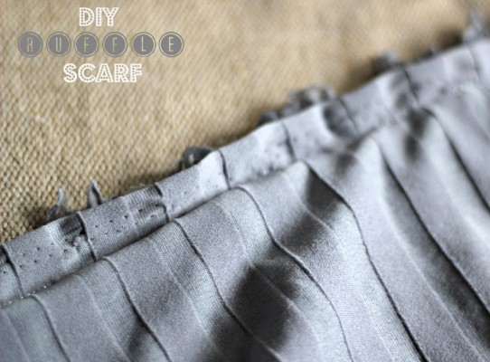 DIY Ruffle Scarf with a straight stitch