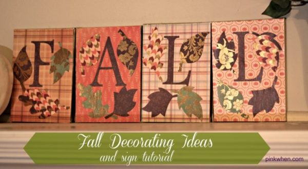 Fall Decorating Ideas and Sign Tutorial