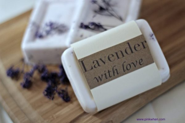 Homemade Gifts and a Homemade Lavender Soap Recipe via PinkWhen