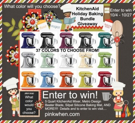 Enter to Win a KitchenAid  BUNDLE now thru Oct 27, 2013!!