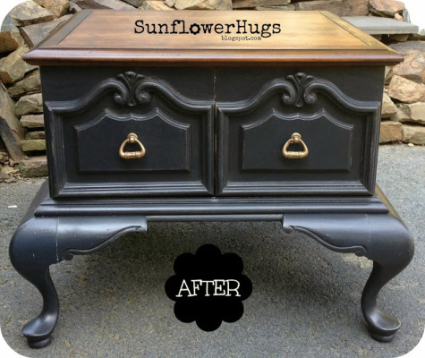 SunflowerHugs French Table Makeover
