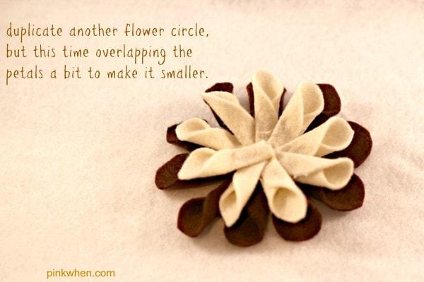 felt fabric flower tutorial 6