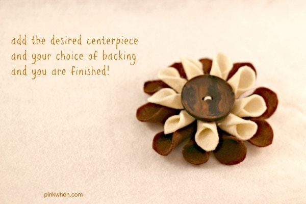 felt fabric flower tutorial 7