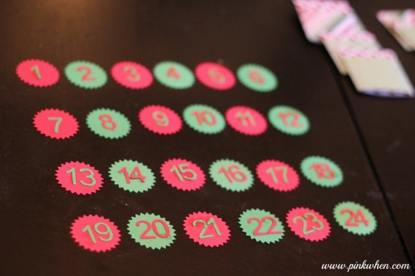25 Days of Christmas Advent Calendar Numbers from Cardstock