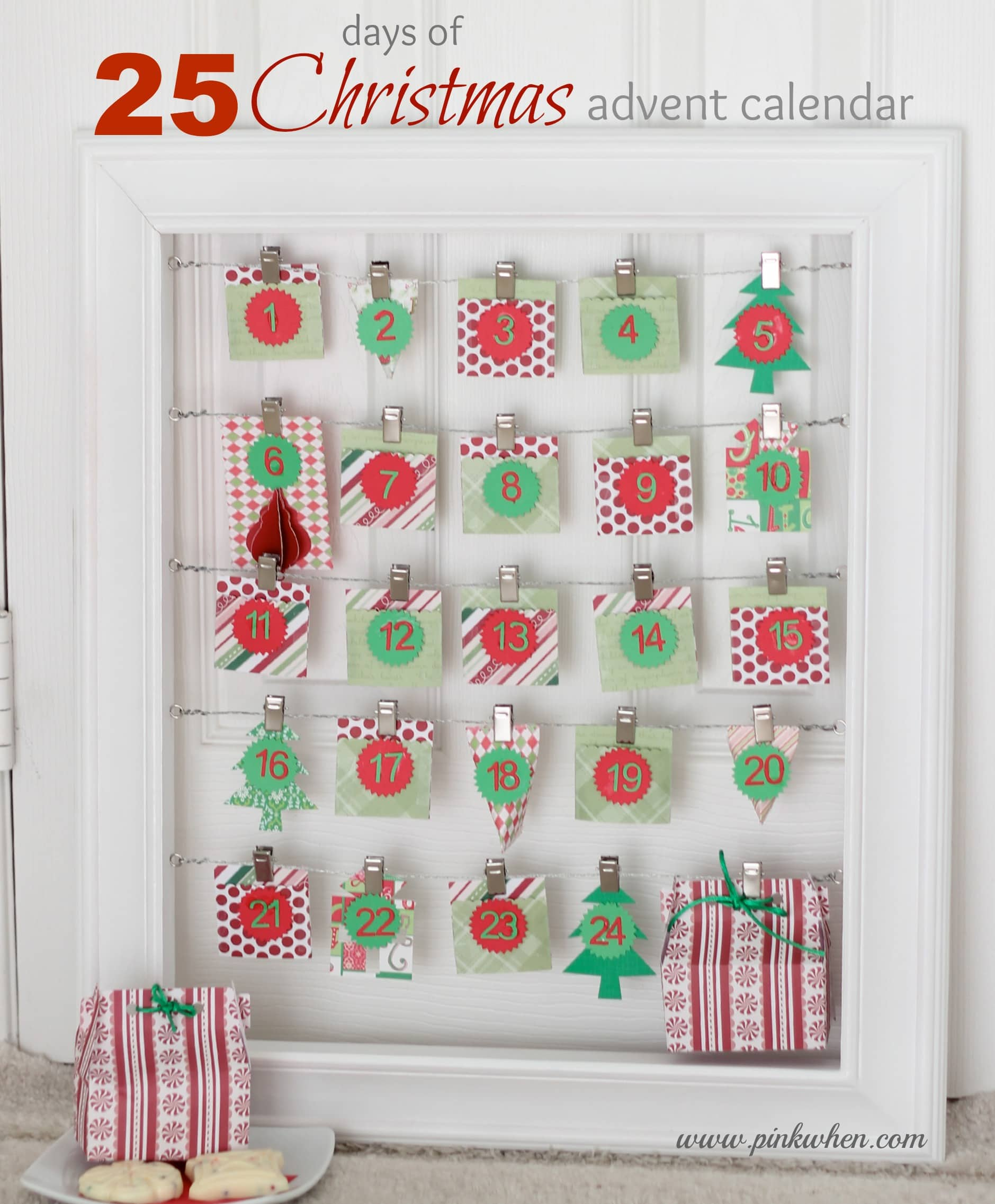 25 days of christmas advent calendar pinkwhen - Pinterest advent ...