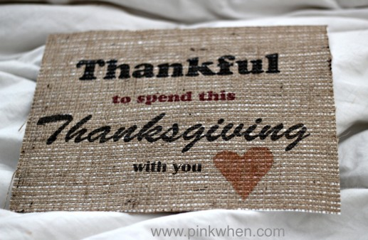 Being thankful free printable and print on burlap tutorial