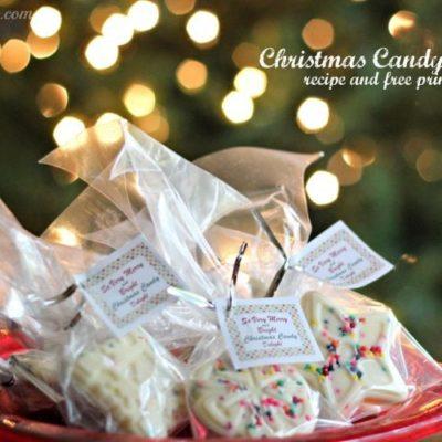 How to Make Christmas Candy & Free Printable Gift Tag